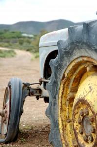 Broken-down tractor